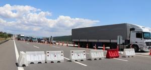 Bolu TEM Otoyolu'nda 28 gün sürecek çalışma başladı Bazı kesimler trafiğe kapatılıyor