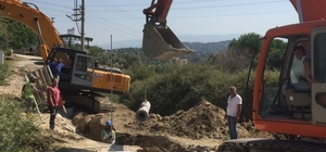 Akçaova kanalizasyon altyapısı inşaatında çalışmalar sürüyor