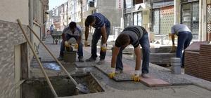 Tepebaşı Belediyesi Fen İşleri Müdürlüğü ekiplerinin yol ve kaldırım çalışmaları