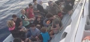 Kuşadası'nda 15'i çocuk 34 kaçak göçmen yakalandı