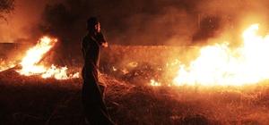 Bodrum'da alevli gece mahalle sakinleri korku dolu anlar yaşadı Alevleri gören sokağa çıktı, araçlar çekildi