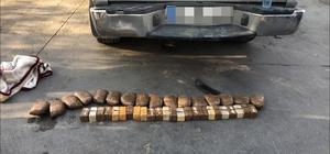 Aracın yedek lastiğinde 14 kilo eroin ele geçirildi