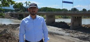 Niksar'da ikinci köprü yapım çalışmaları hızla devam ediyor