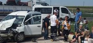 Edirne'de trafik kazası: 17 yaralı