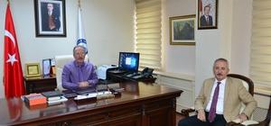 Beşel'den Rektör Uzun'a veda ziyareti