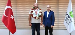 Büyükşehir'den Atasporuna destek Güreşçilerden başkan Kafaoğlu'na ziyaret