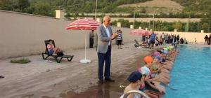 İskenderun'da ücretsiz yüzme kursu başladı
