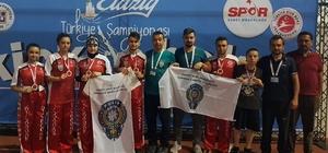 Polisgücü Kick-Boks sporcuları Dünya ve Avrupa yolcusu Kırıkkale'ye Kick-Boks'da 9 madalya birden