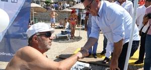 Dünyada ve Türkiye'de ilk olan görme engelliler yüzme parkuru Bodrum'da açıldı