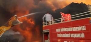 Afrin'in Atme kasabasında büyük yangın