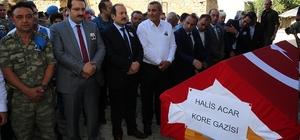 Kore Gazisi Halis Acar son yolculuğuna uğurlandı