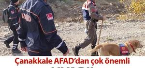 Çanakkale AFAD'dan kayıp ve kaçırılma olaylarına karşı uyarı