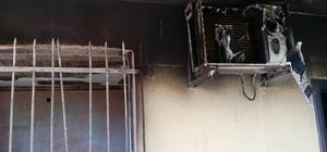 Patlayan klima evi harabeye çevirdi Kullanılamaz hale gelen evde 50 bin liralık hasar oluştu