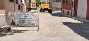 Nazilli'de yol yapım çalışmaları sürüyor