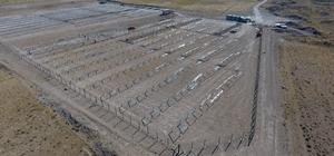 Develi'de güneş enerji santrali çalışmaları sürüyor