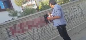 Cami duvarına yazılan çirkin yazı, polis tarafından silindi