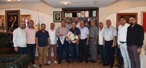 """Can: """"Yüreğimiz ve gönlümüz sizinle"""" Tarsus İdman Yurdu yönetimi Tarsus Belediye Başkanı Şevket Can'ı ziyaret etti"""