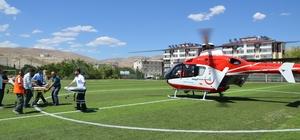 Ambulans helikopter yine kalp krizi vakası için havalandı