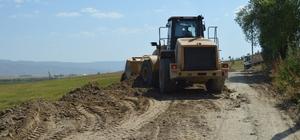 Eleşkirt Yığıntaş Köyü'nde yol genişletme çalışması