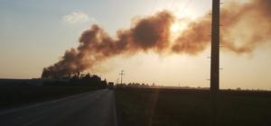 Osmaniye'de geri dönüşüm fabrikasında büyük yangın Yangına arazözler ve helikopter ile müdahale ediliyor
