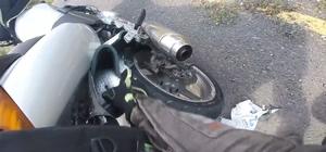 (Özel Haber) Son andan fark edince kazadan kurtuldu Bagaj çantası arka tekerini kitledi