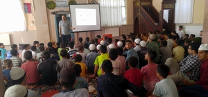 Kur'an kursu öğrencilerine bağımlılıkla mücadele anlatıldı