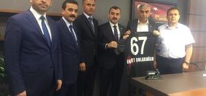 GMİS'ten Zonguldak'ın yeni vekillerine tebrik ziyareti