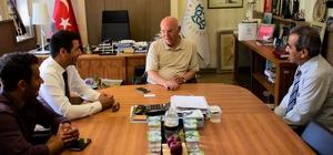 Başkan Eşkinat, İHA ekibine projelerini anlattı