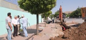 İncesu'da yağmur ve kar suyu tahliye kanalı yapım çalışması başladı