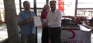 Beyşehir'de düzenli kan bağışçıları ödüllendirildi