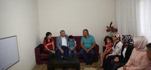 Başkan Çelik, Genç KAYMEK'te eğitim gören öğrencilerin ailelerini ziyaret etti