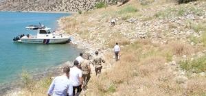 Çemişgezek'te baraj gölünde kıyı güvenliği incelemesi