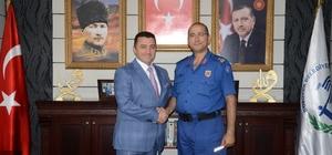 İlçe Jandarma Komutanı Binbaşı Can'dan Başkan Bakıcı'ya veda ziyareti