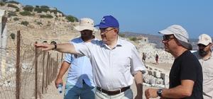 Rektör Şahin Knidos'ta çalışmaları inceledi