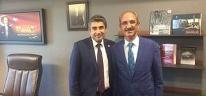 Rektör Karakaya, Kırşehir Milletvekili Dr. Metin İlhan'ı ziyaret etti