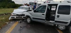 Aşıya giden veterinerler kaza geçirdi: 7 yaralı