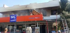 Milas'ta korkutan ev yangını