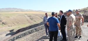 Başkan Vekili Vardar, sulama göleti inşaatını inceledi