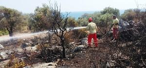 Antalya'da antik kent yakınında çıkan yangın korkuttu