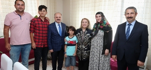 Şehit Kurbanoğlu'nun ailesi ziyaret edildi