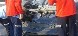 Burhaniye'de otomobil takla atıp ters döndü: 1 yaralı