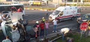 Malatya'da iki minibüs çarpıştı: 12 yaralı