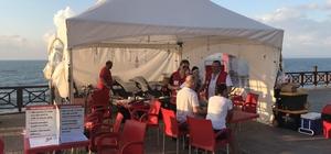 Akçakoca Çınar Caddesinde kan bağışı