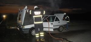 LPG'li otomobilde korkutan yangın