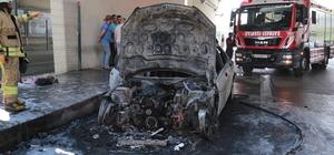 Kadıköy'de araç yangını