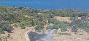 Sedir Adası'nda çıkan yangın söndürüldü