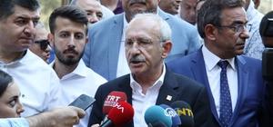 """CHP Genel Başkanı Kılıçdaroğlu Antalya'da CHP Genel Başkanı Kemal Kılıçdaroğlu: """"Hapishanede olan arkadaşların moralleri yerinde, çünkü onların herhangi bir suçu yok. Ama şuan keyfi olarak içeride tutuluyorlar. Umarım  kısa süre içinde  özgürlüklerine kavuşurlar"""""""