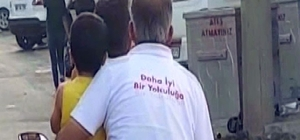 'Daha iyi bir yolculuğa' yazılı tişörtüyle kazaya davetiye çıkardı