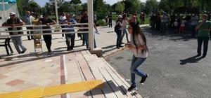 Afyonkarahisar'da KPSS heyecanı KPSS sınavını saniyelerle kaçırdı