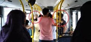 Halk otobüsünde yaşlılara yer verilmesini isteyen genç darp edildi Yaşlılara yer vermeyenlere söylendi, yediği yumrukla dudağı patladı Yolcular, hak verdikleri genci uzun süre sakinleştirmeye çalıştı